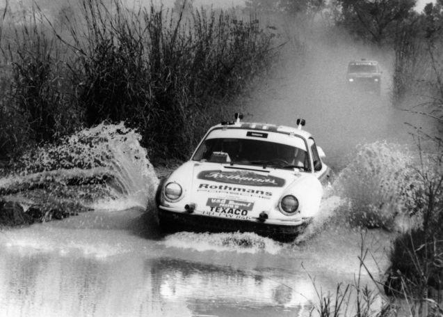 The 1984 Paris-Dakar winning Type 953 Porsche 911 driven by Rene Metge and Dominique Lemoyne.