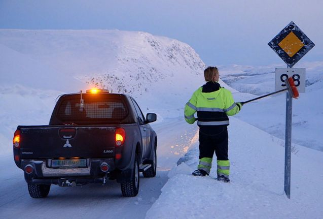 Random: snow covered road signs are an issue in cold countries. It's no excuse generally for not knowing the rules however. In Finland particularly, it's the driver's responsibility to know the speed limit