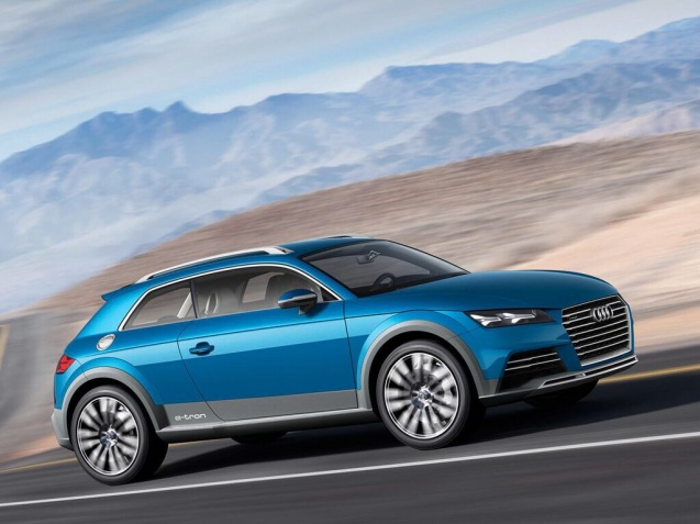 All rounder: quite liking this Audi Allroad Shooting Brake concept which has leaked out ahead of the Detroit Motor Show starting Monday. (Relatively) compact, four wheel drive, high performance – presumably – smart and economical (judging by the e-tron decal on the side). Looks like you might be able to sleep in it. Industry commentators reckon it's actually a preview of the upcoming TT coupe or Q1 SUV.
