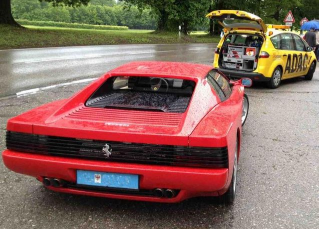 A random picture culled from the @ADAC's twitter feed this week. Wonder what the problem was? Could it have been a flat battery do you think? A roundup of the embattled motoring organisation's woes coming up later.