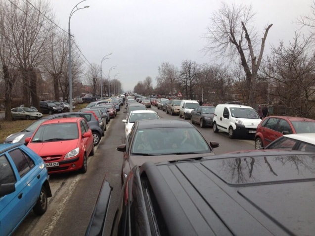 Traffic jams stretched to former President Yanukovych's lavish residence Mezihyria beside the Dnieper river just outside Kyiv - and served by its own brand new motorway - as the doors were thrown open to the public yesterday morning.