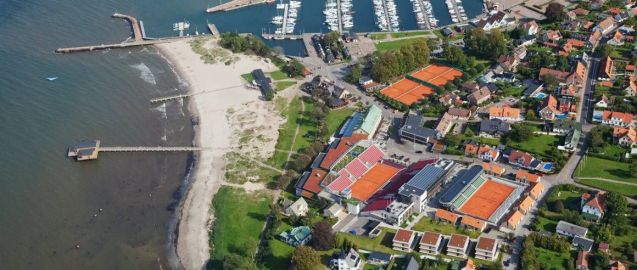 Skansen Hotel from the air. Grain bar centre right