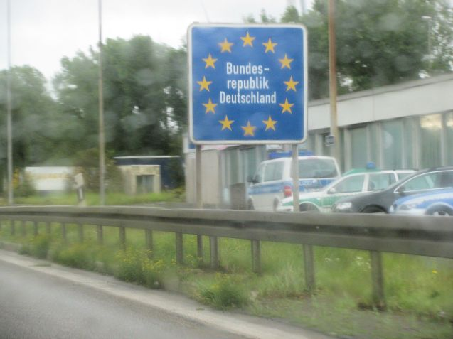 The German border near Aachen, from the A4 to Cologne, the closest autobahn to Britain.