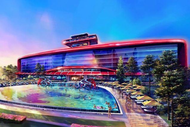 The world's first Ferrari-themed hotel will be built at Ferrari Land in Spain.