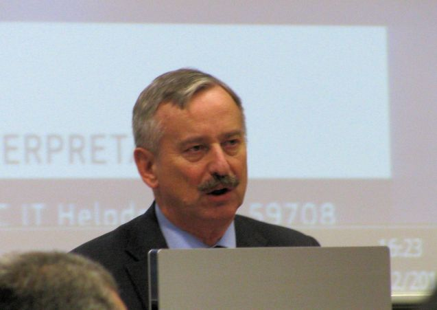 EU transport commissioner Siim Kallas at the Brussels 2012 Road Charging Conference. Photo @DriveEurope.