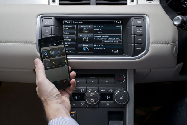 Land Rover In-Control App.