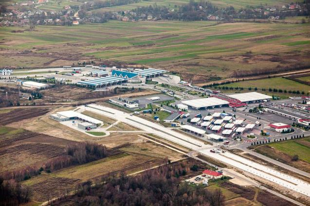 The A4 Korczowa border crossing with Ukraine