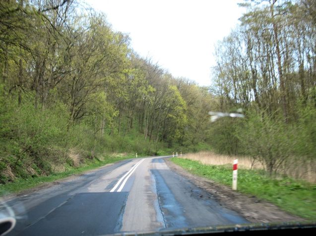 This is a main road, S16 Grudziadz-Ostroda, but as bad as the surface gets all day. No potholes at all.