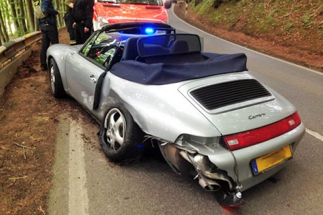 Not only have you sustained major damage to your classic Porsche 911 (993) Carrera Cabriolet – and your passenger taken to hospital for checks – but the world automatically assumes you're an idiot who, in time honoured fashion, has overcooked it on a bend in the rear-engined sports car and gone into the barrier backwards. The shame!