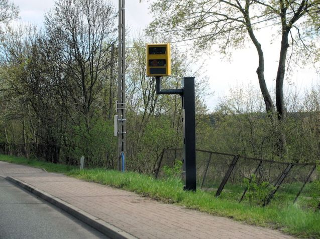 Every town and even tiny village has a speed camera, sometimes planted up with flowers.
