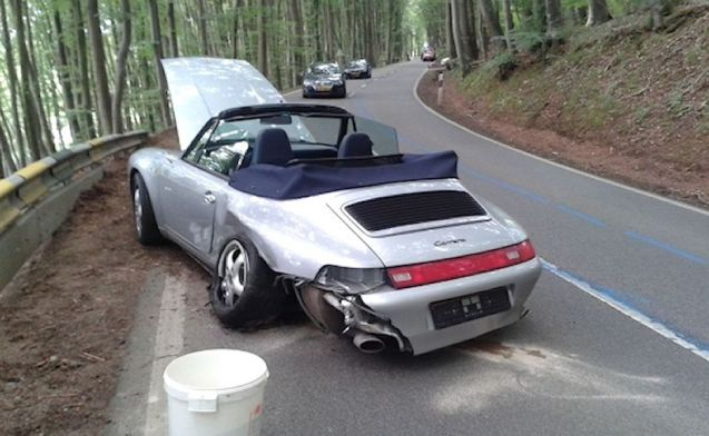 There you are, taking time out on Thursday afternoon, enjoying the twisting roads of mountainous northern Luxembourg – specifically in this case the CR 306 between Grosbus and Viichten - when the worst happens.
