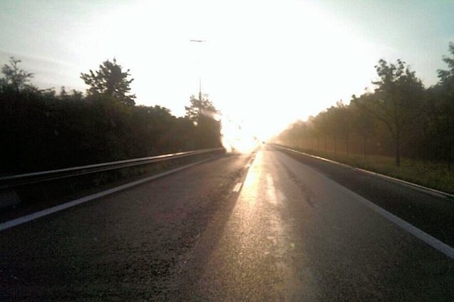 Belgium, this morning. Expecting a much quieter day on the roads today, and better weather. Photo via @DRSTransport