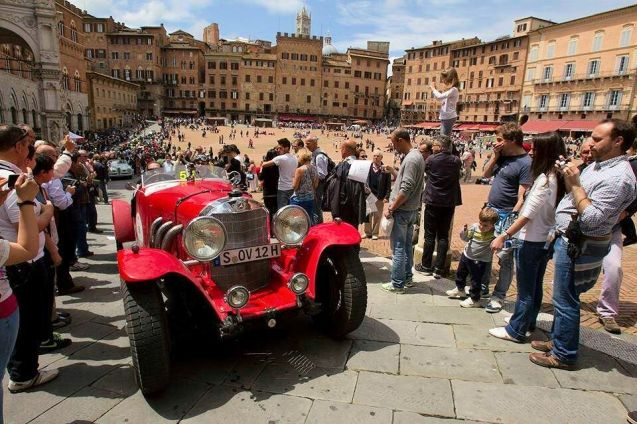 Mille Miglia 2014 starts today in Brescia, Italy, on a 1,000 mile route to Rome and back. Hundreds of historic cars take part including 'works' teams from Jaguar and Mercedes. See #millemiglia2014 on Twitter.