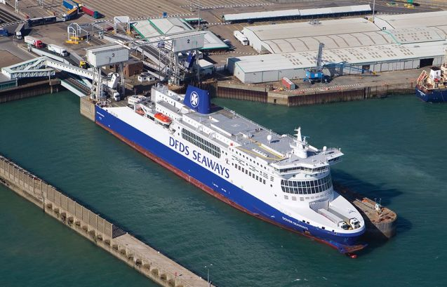 Ferry fire spate: Ten people – three firefighters and seven crew members – were injured, none seriously, in a fire aboard DFDS Dieppe Seaways at Dover yesterday afternoon. All 316 passengers were safely evacuated. Fire crews eventually stood down at 2am Wednesday. DFDS Dover-Calais services will be disrupted until at least 16:45 this afternoon said the company. At the same time yesterday, a failed fuel pump on a classic car caused a fire aboard Condor Ferries Vitesse in Weymouth. No injuries or damage was sustained and no services were affected. Another DFDS boat suffered an incident at sea on Sunday evening. According to the Copenhagen Post, there was an engine failure and explosion on Crown Seaways as it sailed between Copenhagen and Oslo. Again, no injuries were sustained and the boat arrived on time the next morning. Photo via DFDS Seaways.