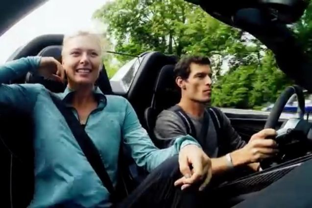 Maria Sharapove and Mark Webber take the new Porsche 918 Hybrid out for a spin.