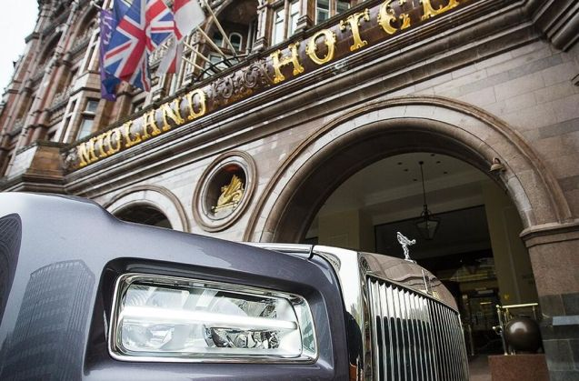 Rolls Royce at the Midland Hotel, Manchester.