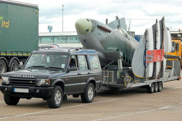 Spitfire: 'We don't carry one of these every day.' Photo via @BrittanyFerries