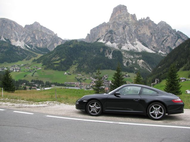 @DriveEurope on Falzarego, Dolomites, September 2011.