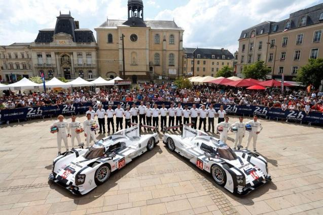 Le Mans 48 Hours: scrutineering - Pesage - takes place yesterday and today on Place de la Republique in the city centre ahead of the race this weekend. Despite the thousands of fans driving there from across Europe, particularly the UK, no