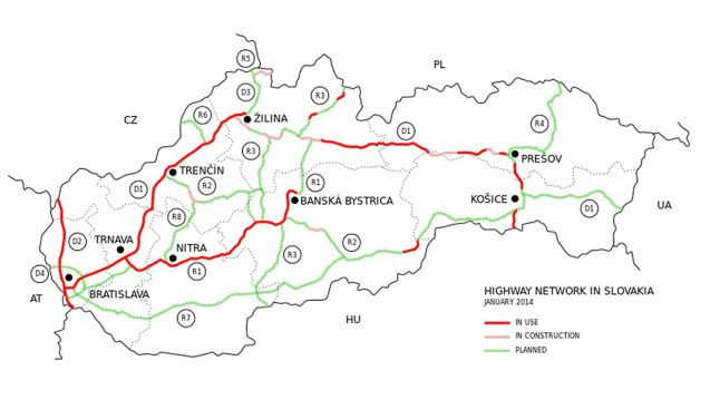 "SLOVAKIA. The ""Gordian Knot"" of the entire D1 motorway has begun to unravel with the first works on the Zilina southern bypass starting today says TranMin Jan Pociatek. The 13.5km stretch includes the 7.46km Visnove Tunnel which will be the longest in the country. Along with a simultaneous 4.25km extension of the D3 to the west and north of Zilina, the road should be in operation by 2019 for a combined cost of €665m. Currently, 75% of D1 between Bratislava and Kosice is in use with now another 20% under construction. The remaining stretches should be resolved in the next few months says Pociatek."