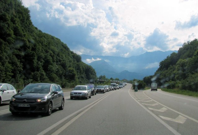 Photo @DriveEurope, D1090 outbound Grenoble last weekend.