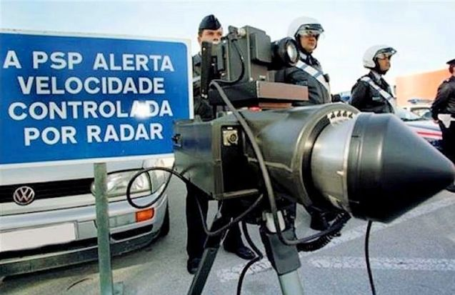 Portuguese police prepare to burn speeding motorists. British, Irish and Danish drivers will soon be in their sights too.