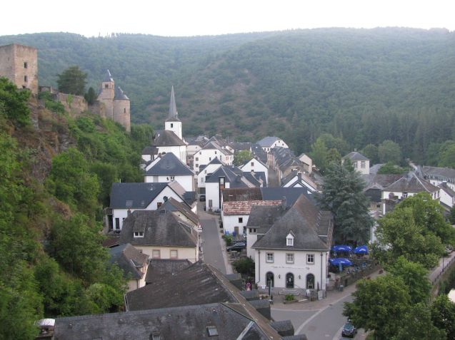 The fairy tale village of Esch-sur-Sure, on a tight turn in the Sure river. In the UK this place would be full of antique shops, gastropubs and boutique hotels. Because it's in no-one has ever heard of it northern Luxembourg, surrounded by wooded hills, it's cheap as chips and only a maximum four hour drive from Calais on Belgium's scenic and fast N roads.
