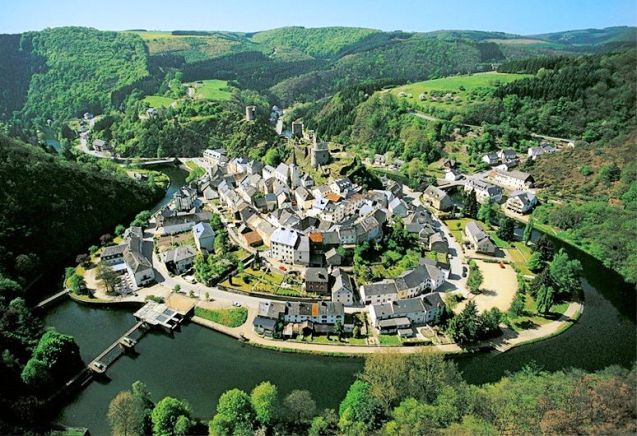 Ta da! Esch-sur-Sure, tucked into its own tight meander of the river. This photo by visitluxembourg.com. All others by @DriveEurope.
