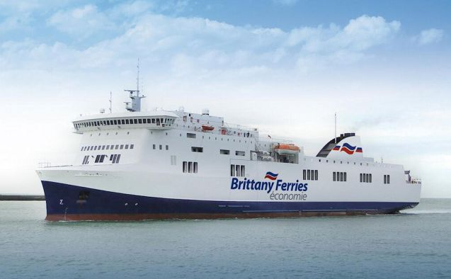 Brittany Ferries economie ship Etretat, now the budget travellers only option between the UK and Spain.