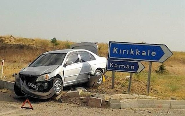 Turkey: a relatively minor accident. Photo via @radyotrafik06