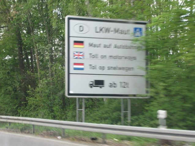 Germany: currently only trucks pay to use Germany roads, and then only motorways. The new 'foreigner toll (maut)' for cars applies to all German roads.