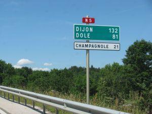 Route National 5: Geneva-Dijon. More later.
