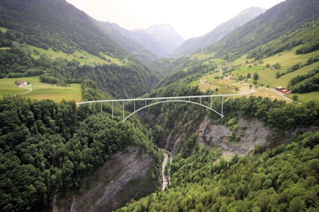 A spectacular new bridge will open up an interesting corner of east Switzerland. More later.