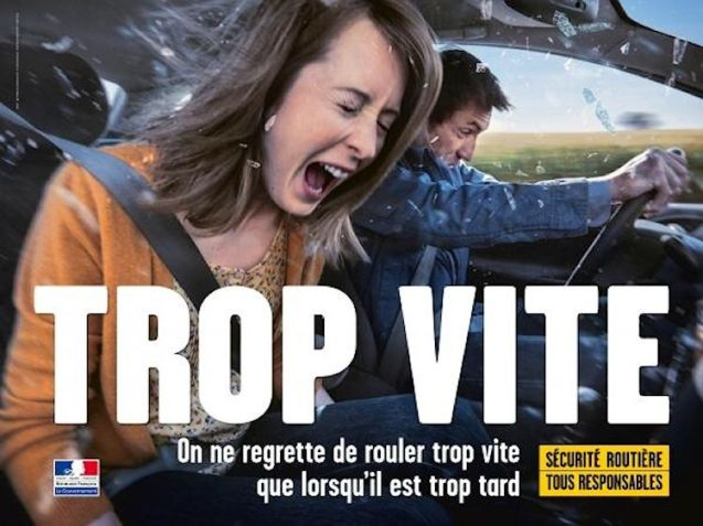 Hard hitting: current road safety ad in France.