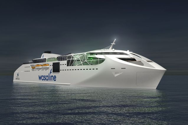 A trick new ecoferry will soon be sailing across the Gulf of Bothnia between Finland and Sweden.