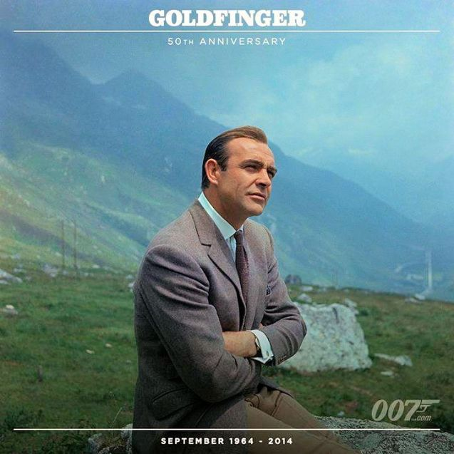 Meanwhile, it's fifty years to the day that Goldfinger went on general release in the UK.