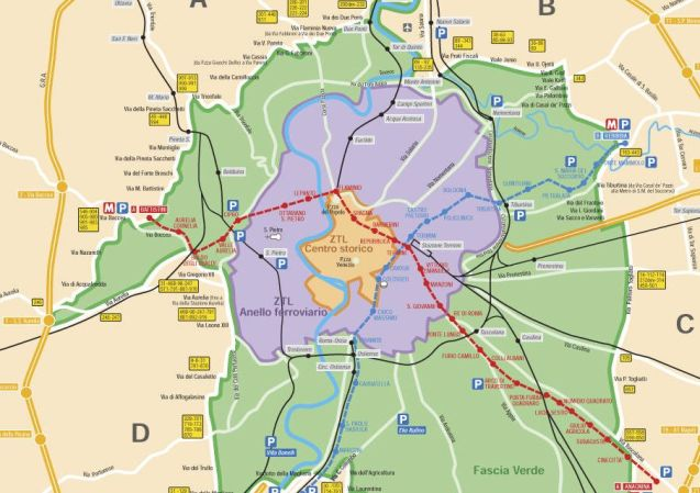 ROME. The entire area inside the anello ferroviario, railway beltline, significantly bigger than the existing ZTL – Zona Traffico Limitato (Low Emission Zone) – will be made a congestion zone from 1 January 2017 under plans revealed today. Residents will have a limited number of free passes while ultra-low emission vehicles, and the disabled, will be exempt. It's the latest step in Mayor Ignazio Marino's efforts to reduce the number of cars in the city following the pedestrianisation of the area around the Colosseum last year and, this summer, around the Spanish Steps.
