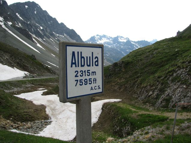 Switzerland's Albula Pass is the first mountain road to close for the winter.