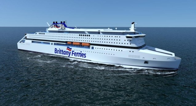 Cancelled: Brittany Ferries' innovative gas-powered ship 'Pegasis'.