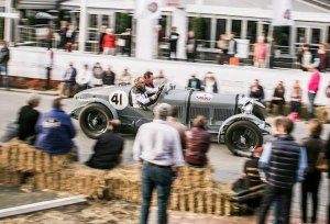 Sports car legend Derek Bell drives Bentley's 1930 Le Mans winning 'Old Number One' at Belgium's premier classic car event the Zoute Grand Prix at Knokke-Zoute near Zeebrugge on Saturday. See zoutegrandprix.be