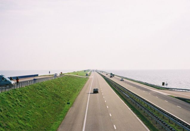 The A7 Afsluitdijk causeway motorway in the northern Netherlands. Firm favourite. Photo @DriveEurope.