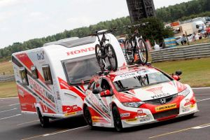 The Honda Racing BTCC team carvan is the star attraction at this week's NEC Caravan Show in Birmingham from today until Sunday.