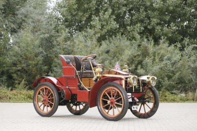 Delivered new in April 1903 to Ricardo Soriano (y Scholtz von Hermensdorff), the Marques of Ivanrey – the man who discovered Marbella and gave his name to the main road running through town – this Panhard et Levassor Model KB Four-Cylinder Side-Entrance Phaeton – the 18th car ever registered in Madrid hence the numberplate – is the star of Bonham's 'London to Brighton' on 31 October. Soriano was a classic playboy aristocrat with interests in cars, bikes and planes. He also introduced Charlie Chaplin to bullfighting. When he died in 1973 aged 90 he was almost penniless but still owned this car.