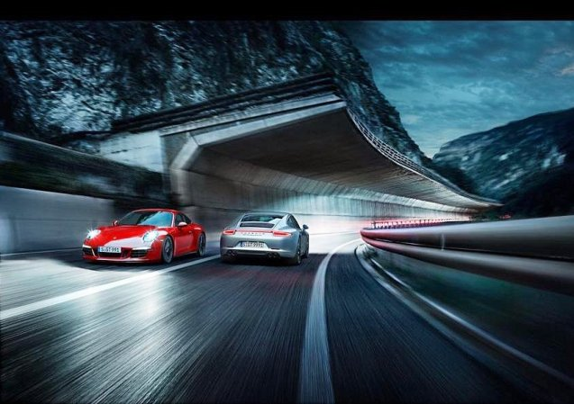 'Manufacturer commercial CGI reaching new levels of idiocy. I suppose the red car's reversing in this impossible image?' complains EVO magazine photographer @evoDeanSmith.