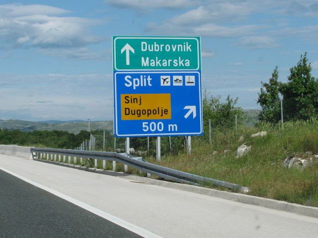 A1 Croatia: mountains, coast road and motorway from Trieste to Split. Coming up.