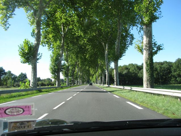 Route Nationale 7 (RN7), Lyon-Paris, near Nevers.