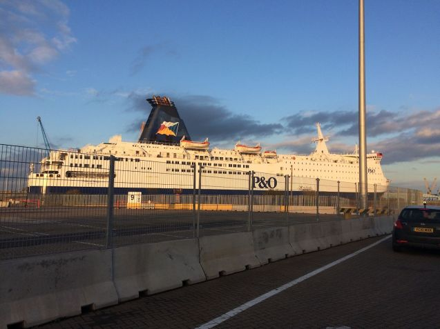 P&O's Pride of Bruges, docked in Hull. All photos by @DriveEurope, more below + map.