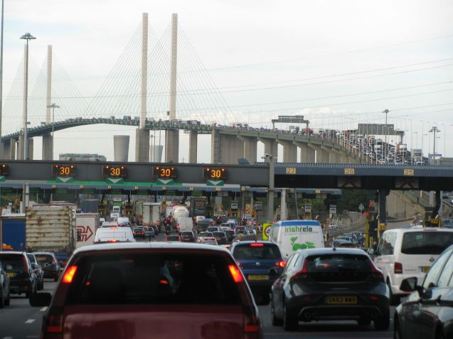 The new Dartford Crossing remote payment scheme went live at 06:00 this morning. Drivers must either set up an account, or remember to pay the charge - over the phone, or by internet - by midnight of the following day. Not easy, or cheap, for those off in a Continental holiday rush.. Phone 0300 300 0120 or see www.gov.uk/dart-charge
