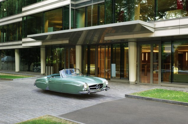 Air Drive: the magic of Photoshop allows French photographer Renaud Marion to realise boyhood dreams of flying cars. The series of fourteen pictures – all using classic cars from the 50s and 60s – were taken in and around Geneva. See renaudmarion.com for more.