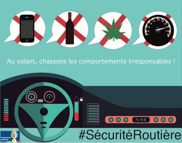 The latest road safety campaign in France. Via @Gendarmerie